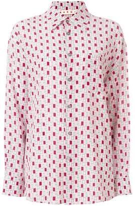 Marni geometric print oversized shirt