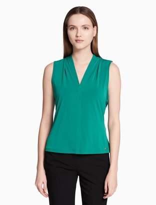 Calvin Klein matte jersey v-neck cami top