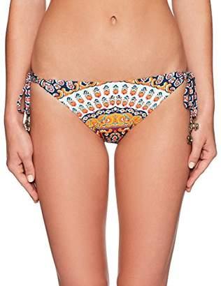 Nanette Lepore Women's Super Fly Paisley Vamp Cheeky Side Tie Bikini Bottom,XS