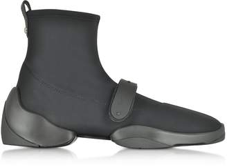 Giuseppe Zanotti Light Jump HT2 Black Nylon High Top Sock Sneakers