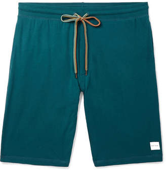 Paul Smith Wide-leg Cotton-jersey Drawstring Shorts