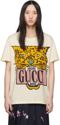 Gucci Beige Jaguar T-Shirt