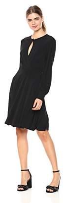Wild Meadow Women's Short Sleeve Wrap Top Dress XL Black