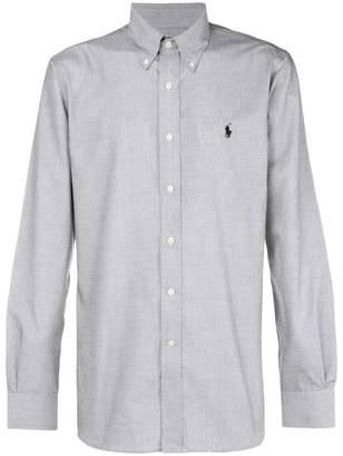 Ralph Lauren logo long-sleeve fitted shirt