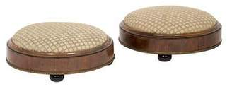 Pair of Round Gout Stools