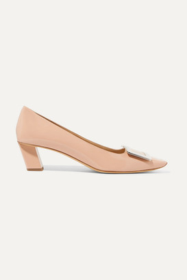 Roger Vivier Trompette Patent-leather Pumps - Blush