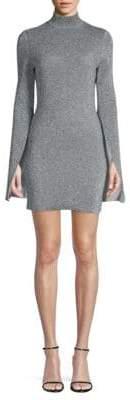 SOLACE London Alula Turtleneck Split Cape Mini Dress