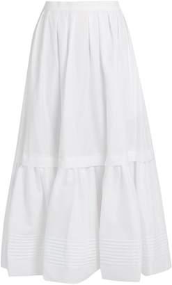 Erdem Leigh tiered cotton skirt