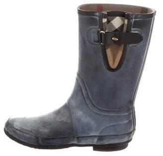 Burberry Round-Toe Rain Boots