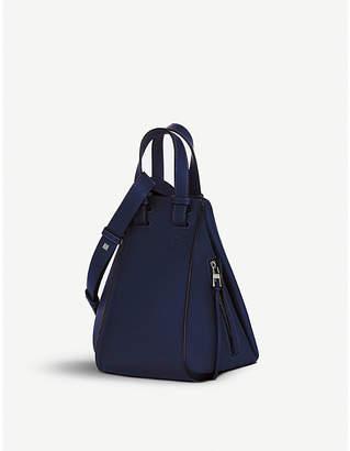 Loewe Ladies Marine Black Hammock Leather Shoulder Bag
