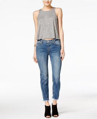 Hudson Cutoff Straight-Leg Jeans