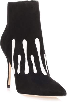Manolo Blahnik Milocus black suede ankle boot