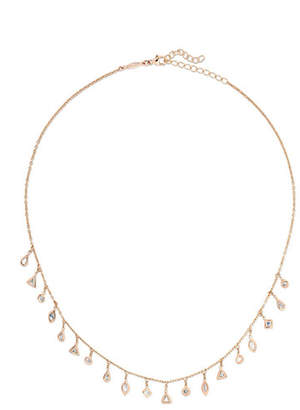 Jacquie Aiche 14-karat Rose Gold Diamond Necklace - one size