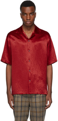 Gucci Red Satin Snake Skull Shirt