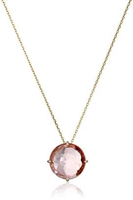 Suzanne Kalan Kalan by 14k Yellow Gold and Salmon Topaz Pendant Necklace