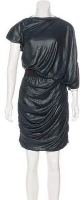Yigal Azrouel Zip-Accented Semi-Sheer Dress