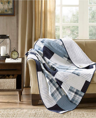 """Woolrich Riverview Reversible 50"""" x 70"""" Quilted Throw"""