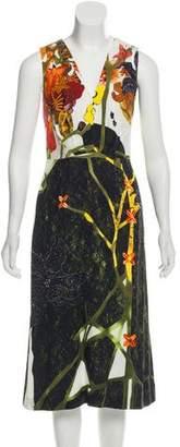 Prada V-Neck Midi Dress w/ Tags