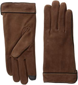 Adrienne Vittadini Women's Soft Suede Micropile Lined Touchscreen Gloves