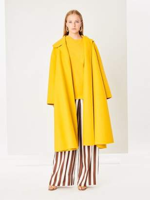 Oscar de la Renta Double-Face Wool-Cashmere Coat