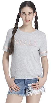 ed98bb9269cddb Only Women s Onlmia S s Hello Top Ess T-Shirt