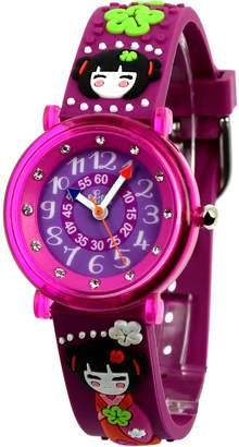Baby Watch Girls' Watch 606023-Kyoto-Educational-Purple Dial - Purple Plastic Strap