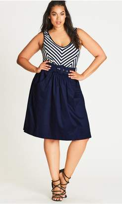 City Chic Citychic Ahoy Sailor Fit & Flare Dress