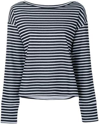 Eleventy striped round neck jumper