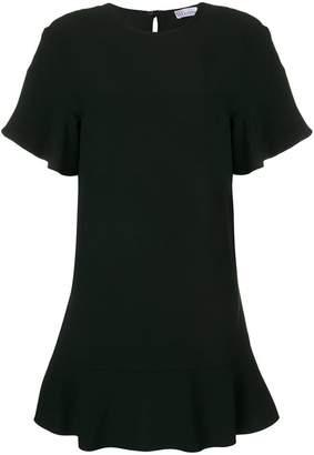 RED Valentino ruffle trim T-shirt dress