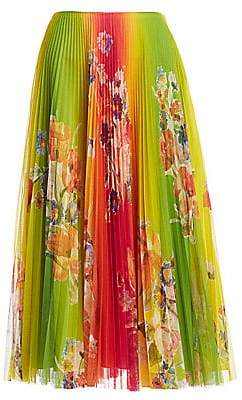 Ralph Lauren Women's Pleated Floral Midi Skirt