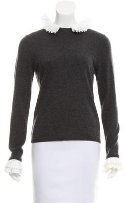 Rena Lange Ruffle Trimmed Long Sleeve Sweater