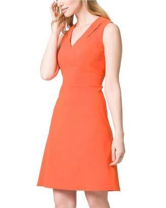 Le Château Women's Half Zip Fit & Flare Dress,XXS