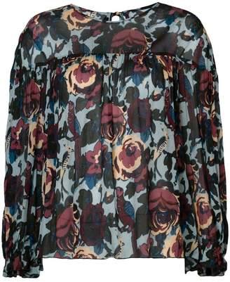 Anna Sui floral print blouse