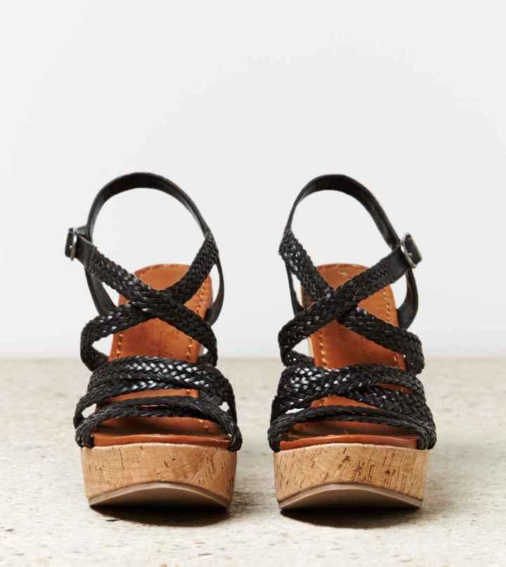 American Eagle AEO Braided Wedge Sandal