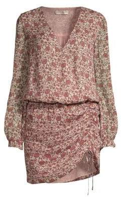 Ramy Brook Vina Floral Silk Blouson Dress