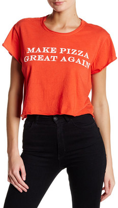 The Laundry Room Great Pizza Crop Rolling Tee $54 thestylecure.com