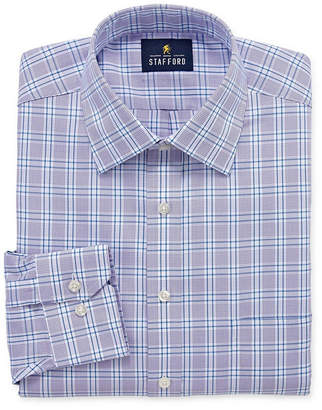STAFFORD Stafford Executive Non-Iron Cotton Pinpoint Oxford Big And Tall Mens Spread Collar Long Sleeve Dress Shirt