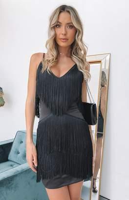 Bb Exclusive Chicago Fringe Dress Black