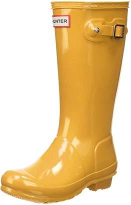 Hunter Boots Girls' Original Big Kids Gloss Rain Boot 3 M US