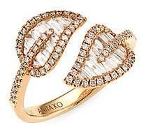 Anita Ko Women's Small 18K Rose Gold & Diamond Baguette Leaf Ring