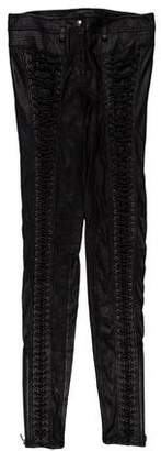 Phi Leather Lace-Up Pants