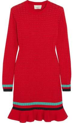 3.1 Phillip Lim Ribbed-Knit Stretch-Cotton Mini Dress