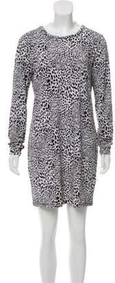 MICHAEL Michael Kors Cheetah Print Mini Dress Black Cheetah Print Mini Dress