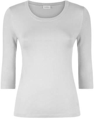 La Perla New Silk Soul Bi-Stretch Silk Sleeve Top