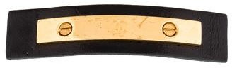 Chanel Chanel CC Leather Barrette