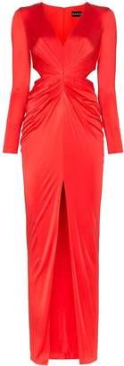 HANEY Erin deep-V cut-out maxi dress