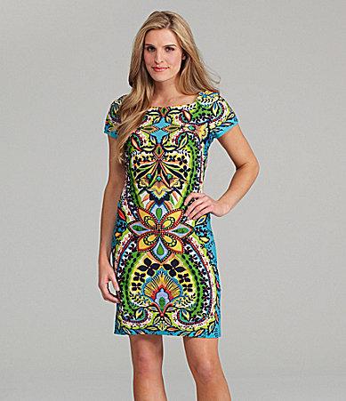 Sunny Taylor Paisley-Print Sheath Dress