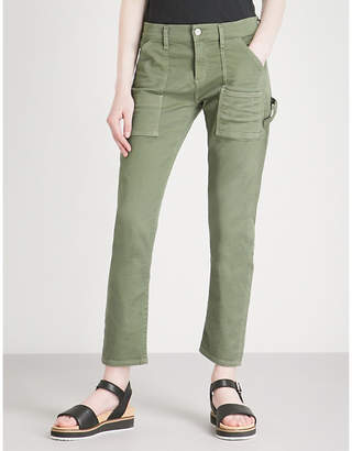 Citizens of Humanity Leah straight cropped stretch-cotton trousers