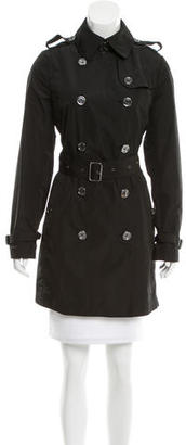 Burberry Brit Double-Breasted Trench Coat $525 thestylecure.com