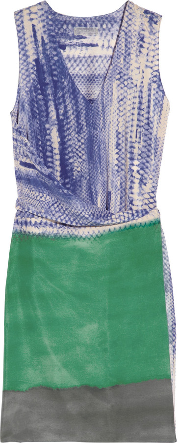 Reed Krakoff Printed stretch-silk chiffon wrap dress